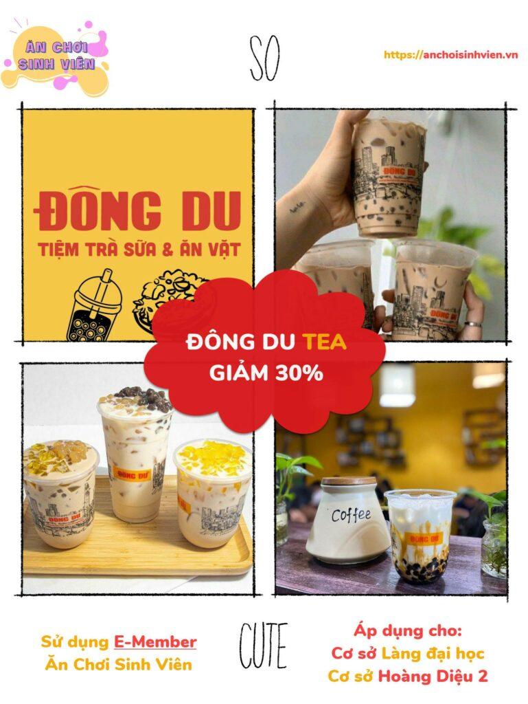 Đông Du Tea giảm 30% với thẻ E-member ăn chơi sinh viên