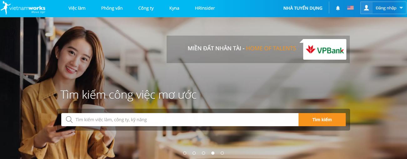 tìm việc làm thêm uy tín nhất cho sinh viên VietNamwork