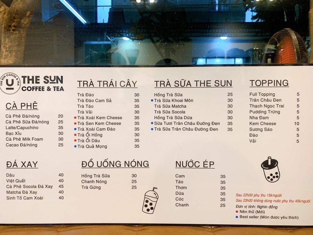 """Bỏ túi những quán Cafe """"không ngủ"""" ở Làng đại học sun coffee & tea"""